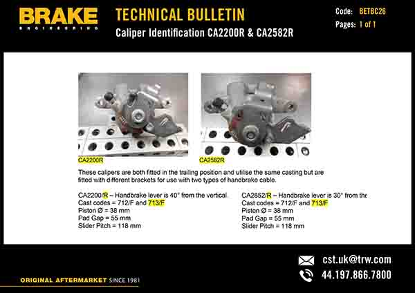 Brake Engineering rolls out technical bulletins